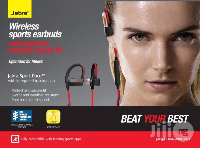 Jabra Sport Pace Wireless Bluetooth Earbuds In Port Harcourt Headphones Buzztrends Obinna Jiji Ng For Sale In Port Harcourt Buy Headphones From Buzztrends Obinna On Jiji Ng