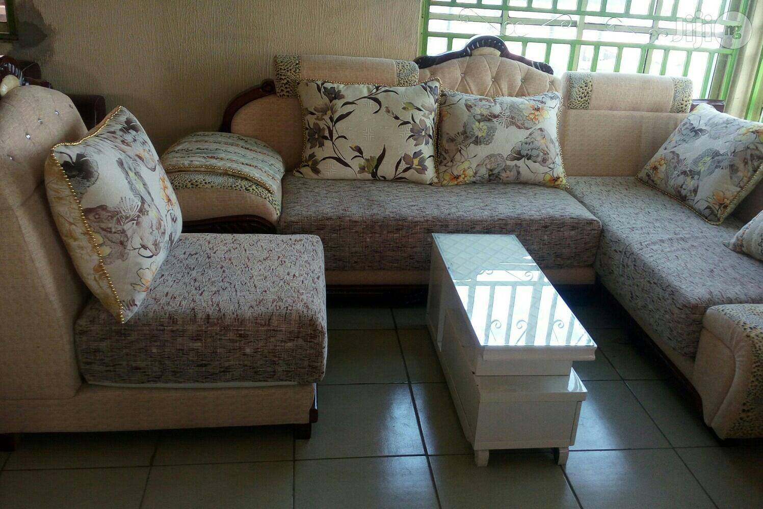 Set of Fabric Sofa Chair L Shape