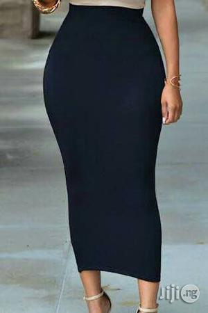 Black Long Midi Bodycon Skirt   Clothing for sale in Lagos State, Surulere