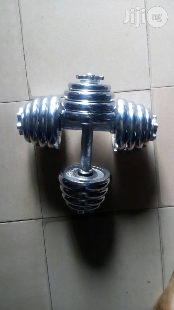 20kg Adjustable Chrome Iron Dumbells