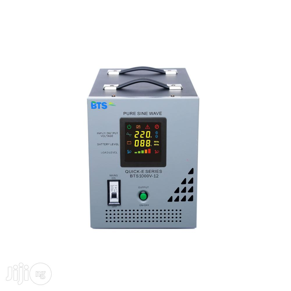 Quick E 1.0 Kva - 12V Pure Sine Wave Inverter With In-built AVR