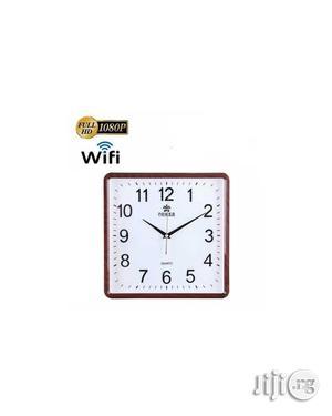 Wall Clock Wifi 1080p Hidden Surveillance Camera W/Microsd | Security & Surveillance for sale in Lagos State