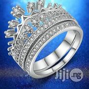 Princess Crown Cubic Zirconia Silver Plated Wedding Set | Clothing Accessories for sale in Lagos State, Ojodu