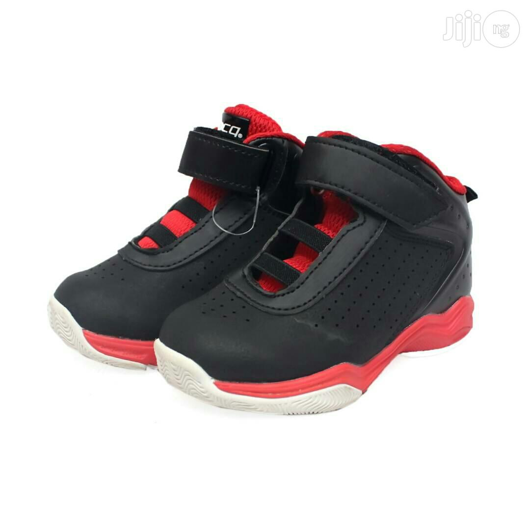 Red Sole and Black Canvas for Toddler