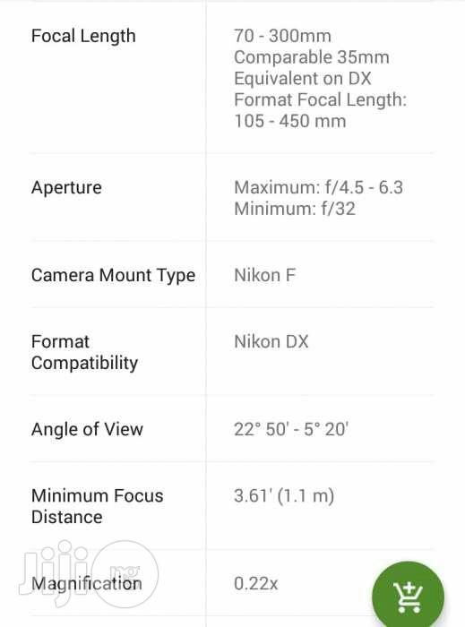 Brand New Nikon AF-P DX Nikkor 70-300mm F/4.5-6.3g ED Lens   Accessories & Supplies for Electronics for sale in Osisioma Ngwa, Abia State, Nigeria