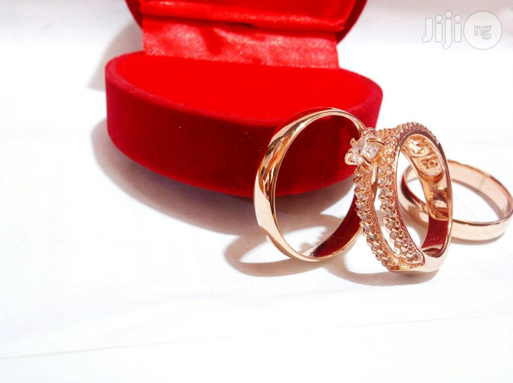 Brand New Romania Rose Gold Engagement Wedding Ring 211 In All Sizes